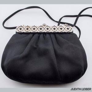 Judith Leiber Bags - SOLD! Judith Leiber Black Satin Classic Bag Purse